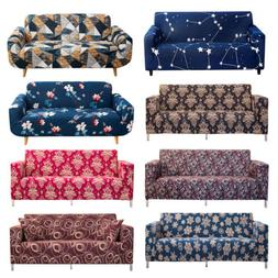 1/2/3/4 Seat Sofa Cover Spandex Stretch Floral Printed Couch