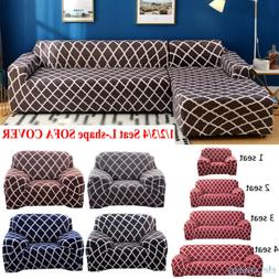 1/2/3/4 Seat Sofa Slipcover Stretch Protector Soft Couch Fur
