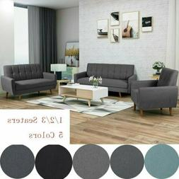 1/2/3 Seat Chair Loverseat Sofa Wood Frame Couch Living Room
