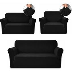 1/2/3 Seater Slipcover Chair Loveseat Sofa Cover Stretch Cou