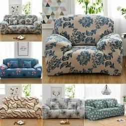 1-4 Seats Slipcover Sofa Covers Pattern Stretch Couch Cover