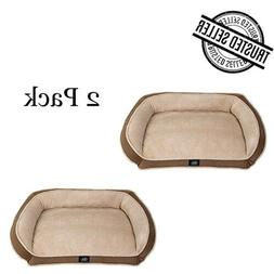 2 Pk Pet Couch Bed Dog Orthopedic Memory Foam Large Plush So