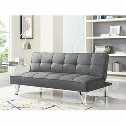 3 Seat Charcoal Couch Upholstery Fabric Sofa Three Adjustabl