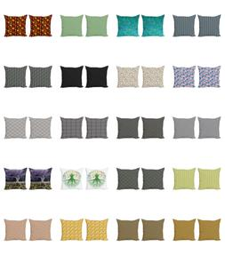Ambesonne Abstract Shapes Cushion Cover Set of 2 for Couch a