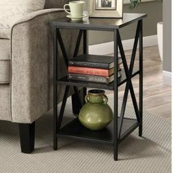 Accent End Table Home Living Room Sofa Couch Black Metal Woo