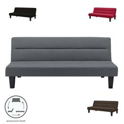 Modern Convertible Futon Sofa Bed Sleeper Adjustable Couch F