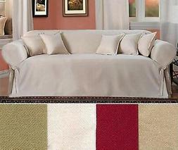All Cotton Slipcover Brushed  Twill Thick Fabric one-piece S