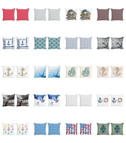 Ambesonne Anchor Nautical Cushion Cover Set of 2 for Couch a