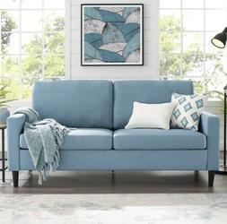 Blue Apartment Sofa Sofas Couch Couches Living Room Dorm Fur
