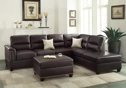 Poundex F7609 Bobkona Toffy Bonded Leather Left or Right Han