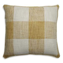 Pillow Perfect Check Please Sunshine Throw Pillow, 18-inch,
