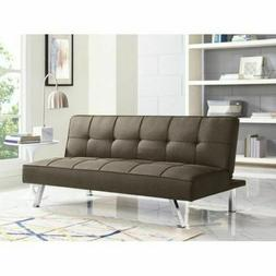 Serta Chelsea Brown Convertible Folding Sofa Futon Couch Bed