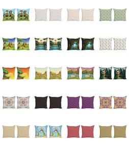 Ambesonne Colorful Fun Cushion Cover Set of 2 for Couch and
