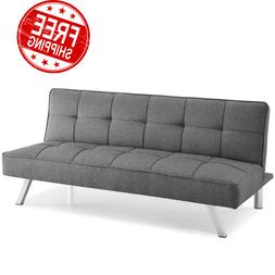 Convertible Futon Sofa Bed Lounger Couch Sleeper High Densit