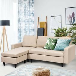 Convertible Sectional L-Shaped Couch with Reversible Chaise