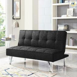 Serta Convertible Sofa Java Couch Futon Bed Sleeper - Brown