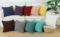 CaliTime Cushion Covers Pillow Case Solid Soft Corduroy Corn