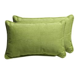 Pillow Perfect Decorative Green Textured Solid Rectangle Tos