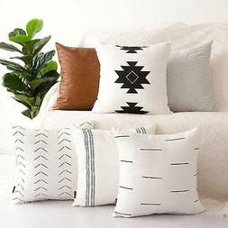 HOMFINER Decorative Throw Pillow Covers for Couch, Set of 6,