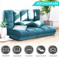 Double Chaise Lounge Sofa Chair Floor Couch Adjustable Gamin