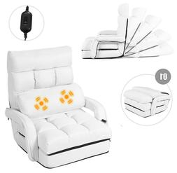 Floor Chair Convertible Bed With Massage Pillow Recliner Sof