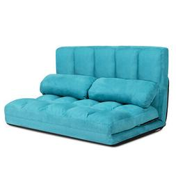 Foldable Floor Sofa Bed 6-Position Adjustable Lounge Couch w