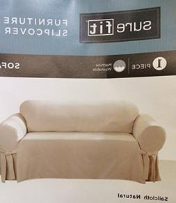 New Sure Fit Natural Furniture Slipcover Sofa Cover 1Pc Fits