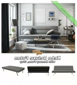 Futon Sofa Bed Contemporary Kebo DHP Click Clack Memory Foam