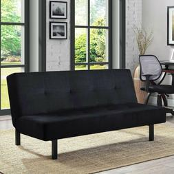 Futon Sofa Cusioned Seat 3 Position Tufted Lounger Couch Bed