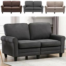 Futon Sofa Loveseat Couch Modern Upholstered Padded Cushion