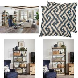 Geometric Pillow Set Of 2 Concealed Zipper Aesthetic Look Mo
