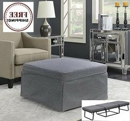Gray Folding Convertible Sofa Bed Ottoman Couch Mattress Lou