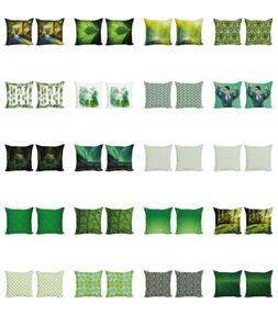 green print cushion cover set of 2