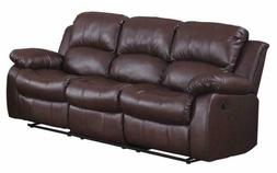 """Homelegance Resonance 83"""" Bonded Leather Double Reclining So"""