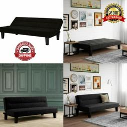 DHP Kebo Futon Couch with Microfiber Cover, Black NEW