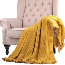 Home Soft Things Knitted Throw Throw Sofa Couch Blanket Home