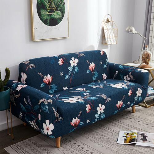 1/2/3/4 Seat Sofa Spandex Floral Printed Couch Protector