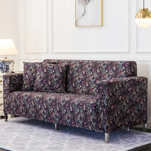 Spandex Stretch Floral Couch Slipcover