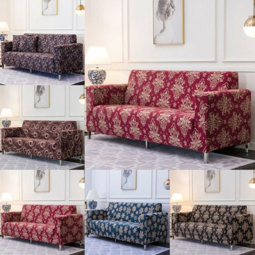 1/2/3/4 Seat Sofa Cover Spandex Stretch Floral Couch Slipcover