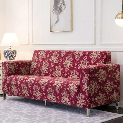 1/2/3/4 Seat Spandex Printed Couch Slipcover