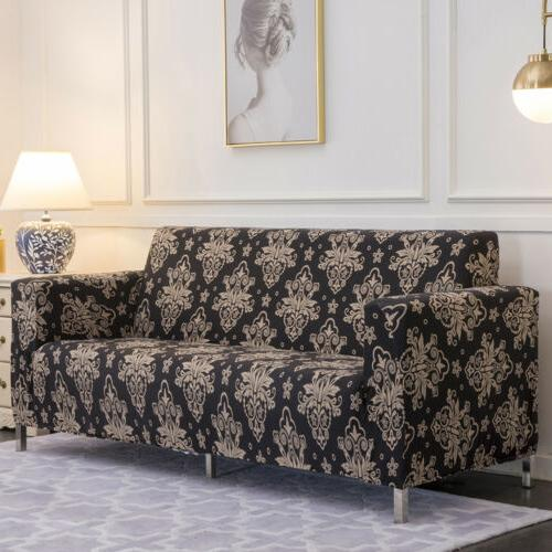 1/2/3/4 Spandex Floral Couch Slipcover Protector