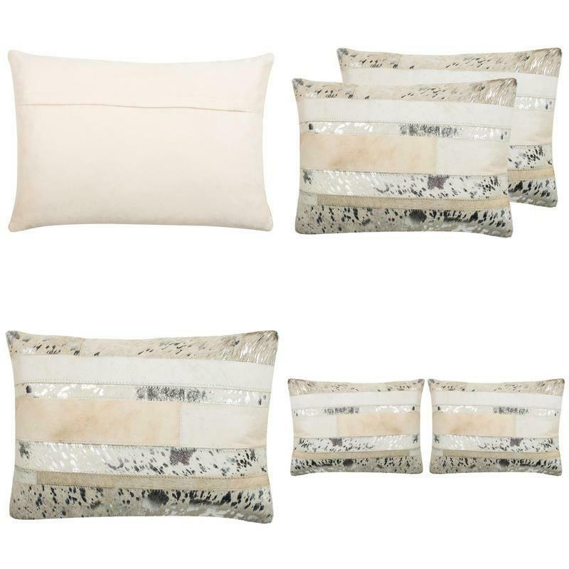 2 pack cowhide pillow concealed zipper aesthetic