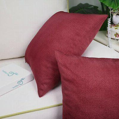 """CaliTime Pack Soft Throw Pillow Covers for Couch Sofa X 18"""" Dark"""