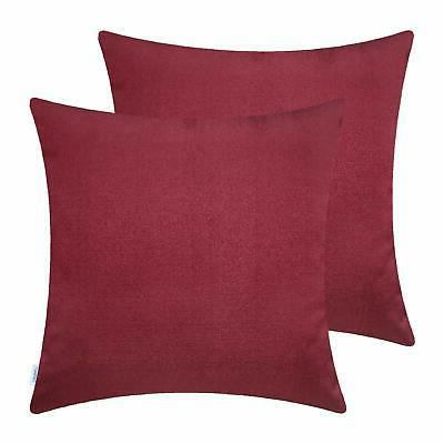 2 pack soft throw pillow covers cases