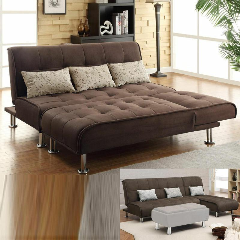 2 pc sectional sofa futon couch chaise