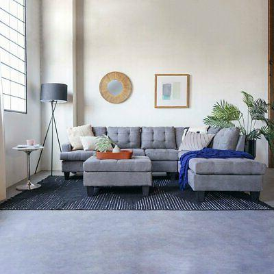 3 PC Modern Reversible Sectional
