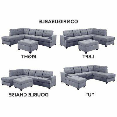 3 Modern Sectional L-Shape Couch with