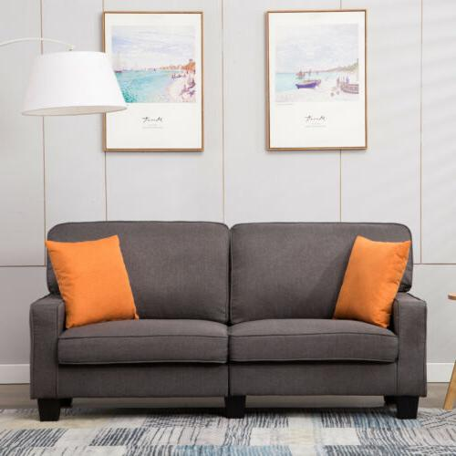 Upholstered Loveseat Sofa 3Color Fabric 3 Seater Couch