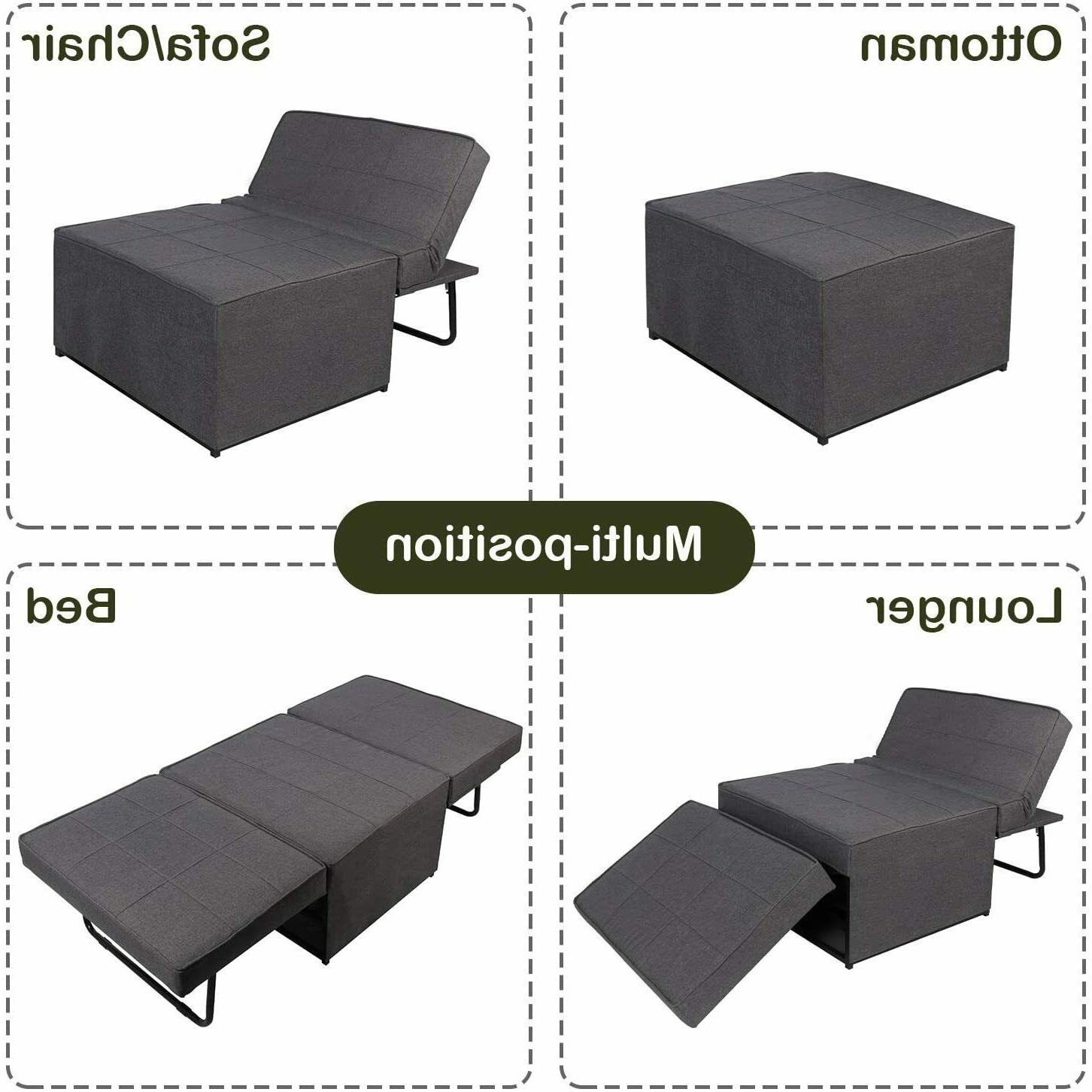 4-in-1 Sleeper Couch Lounger Ottoman