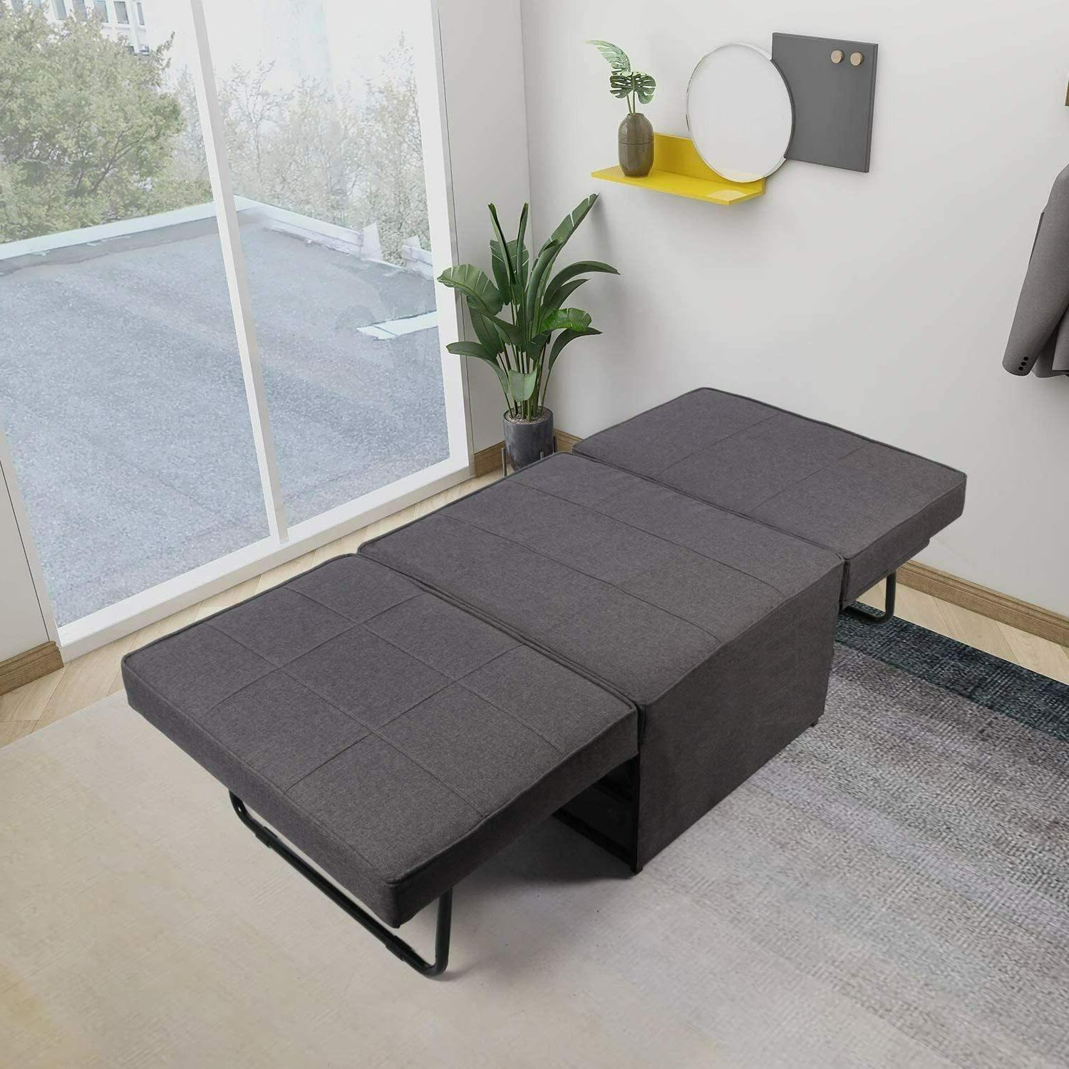 4-in-1 Sofa Sleeper Out Lounger Chair Ottoman